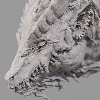 Dragon Concept Model, keita okada #greekstatue