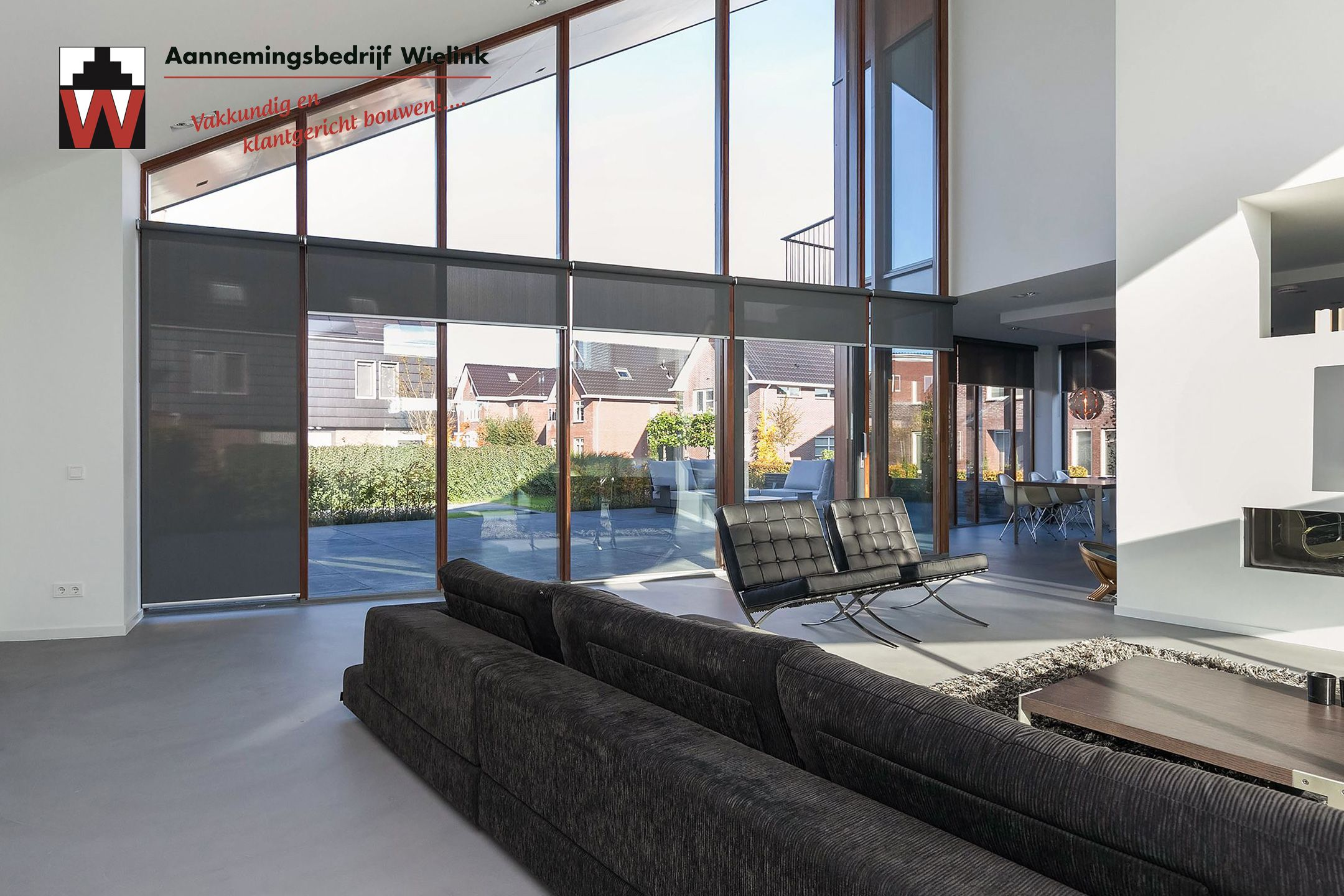 Strak modern interieur