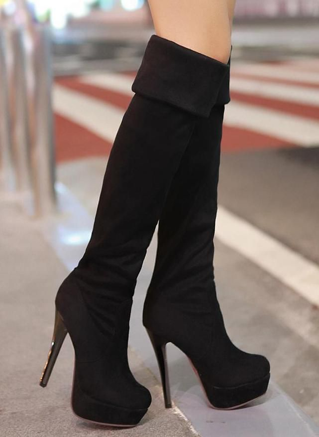 1000  images about Heel boots on Pinterest | High heel boots ...