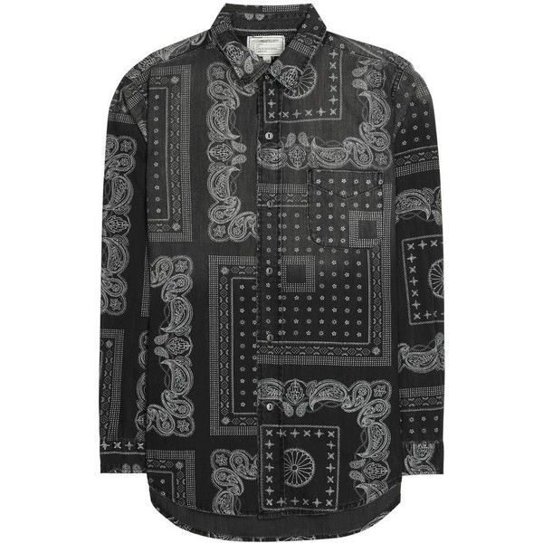 Current/Elliott Printed Cotton Shirt (24.455 RUB) via Polyvore featuring tops, current elliott shirt, cotton shirts и shirt top