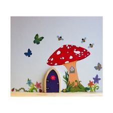 Irish fairy door garden toadstool wall decal reusable for Fairy door adairs