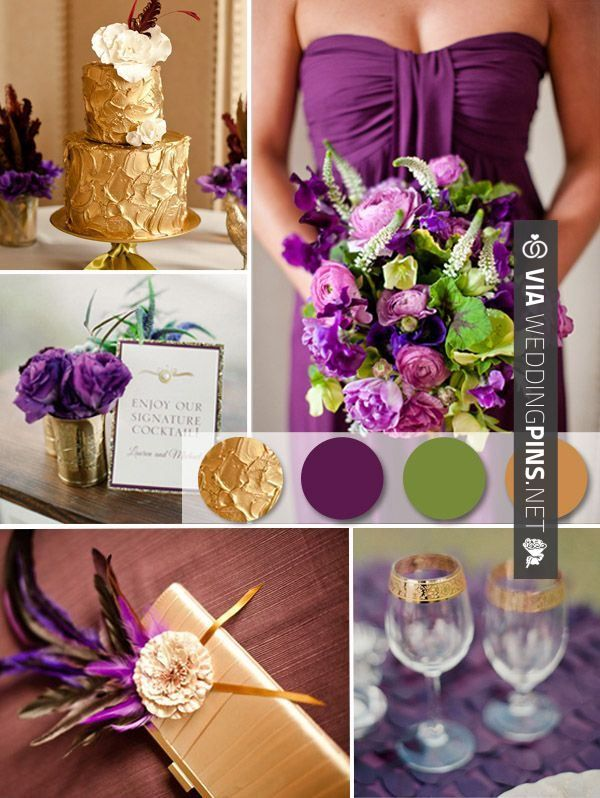 Wedding Cake Trends 2016 Purple And Gold Ideas