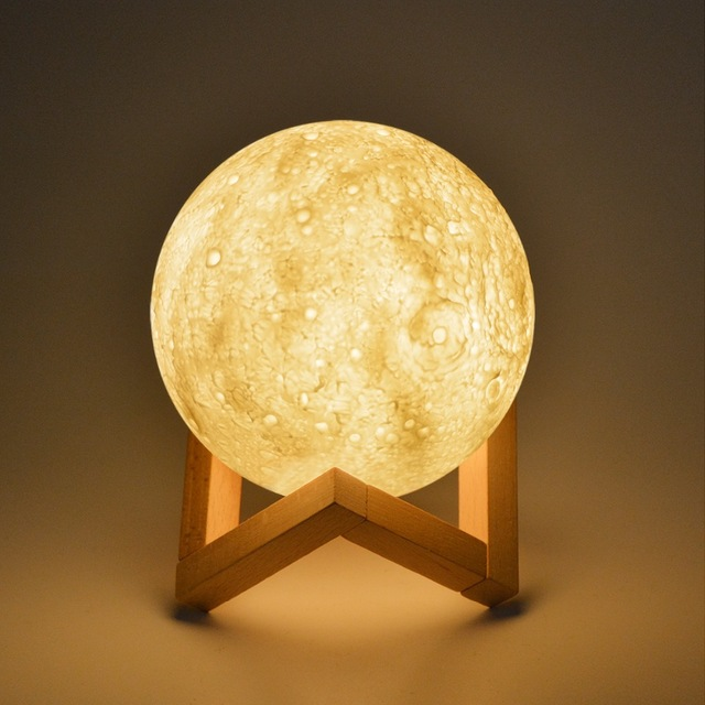 Trustful 3d Usb Led Magical Moon Night Light Moonlight Table Desk Moon Lamp Home Decor Us Cheapest Price From Our Site Home & Garden