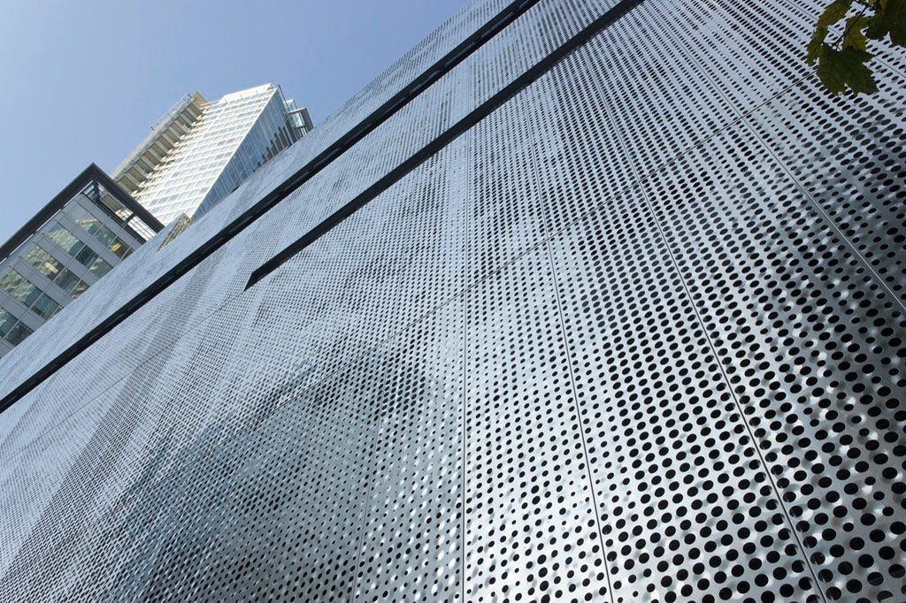 Steel Perforated Metal Sheet Images Retail Facade