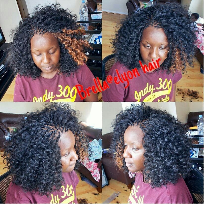 Spanish curl crochet braids with pick and drop