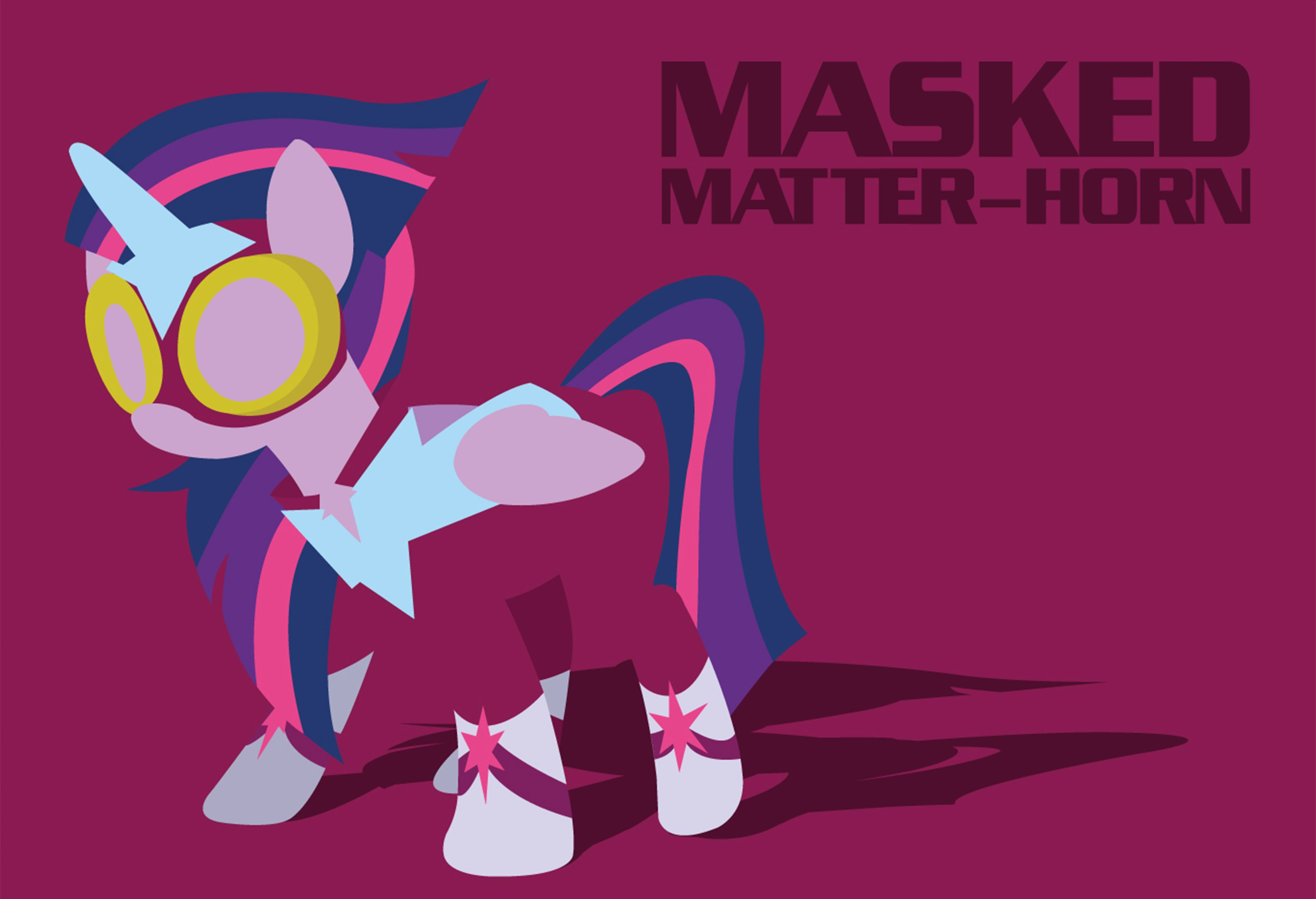 Pearlie Horn >> My Little Pony Power Ponies Masked Matter Horn Poster Available