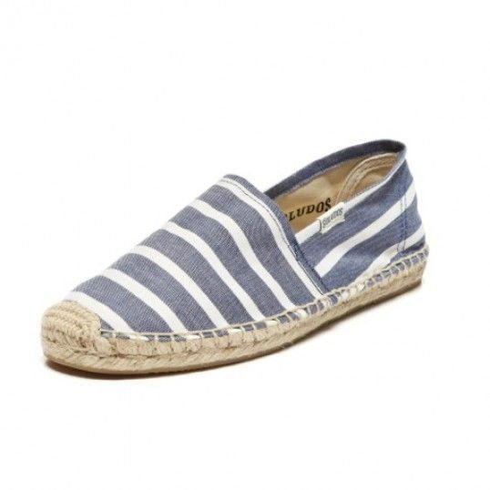 Classic Stripe Espadrille in Navy and