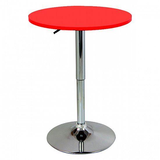Woltu h henverstellbar bartisch bistrotisch bt02rt design for Design tisch rot