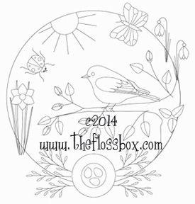 Patrón Bluebird de la primavera del bordado