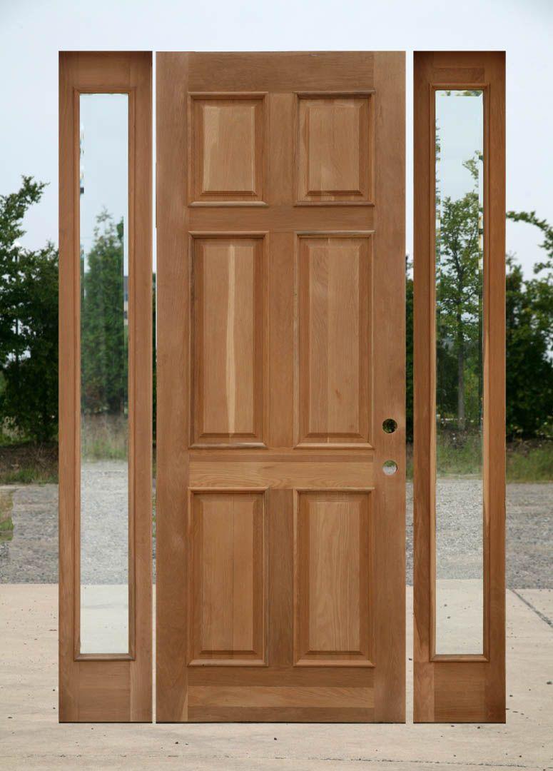 Superieur 8 0 Oak Exterior Door With Two Sidelights