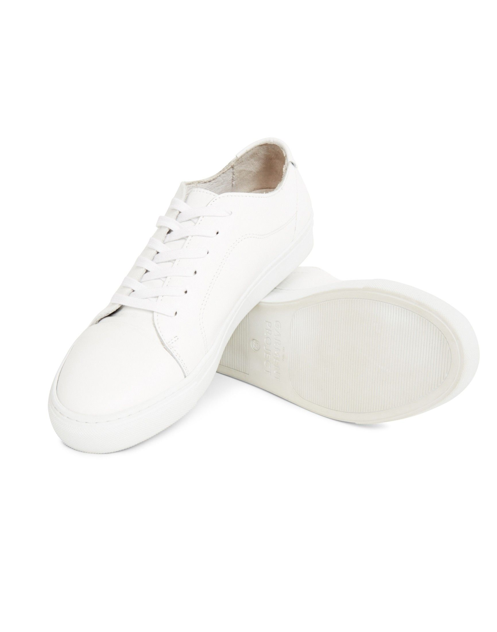Garment Project Classic Lace Leather Trainer White   Shop men's trainers,  shoes and clothing at