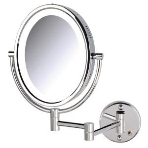 Jerdon 11 In X 16 In Bi View Lighted Wall Makeup Mirror Hl9516c