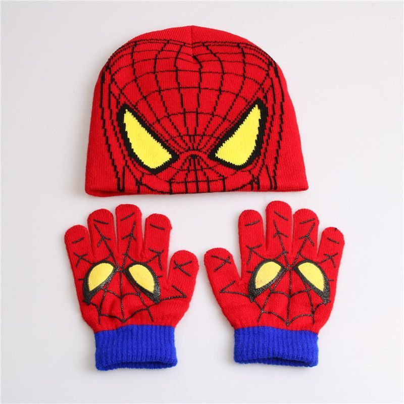 Costumes & Accessories Novelty & Special Use Fashion Winter Cotton Batman Cartoon Hat Glove Sets For Baby Kids Boys Warm Children Spiderman Knitted Hat