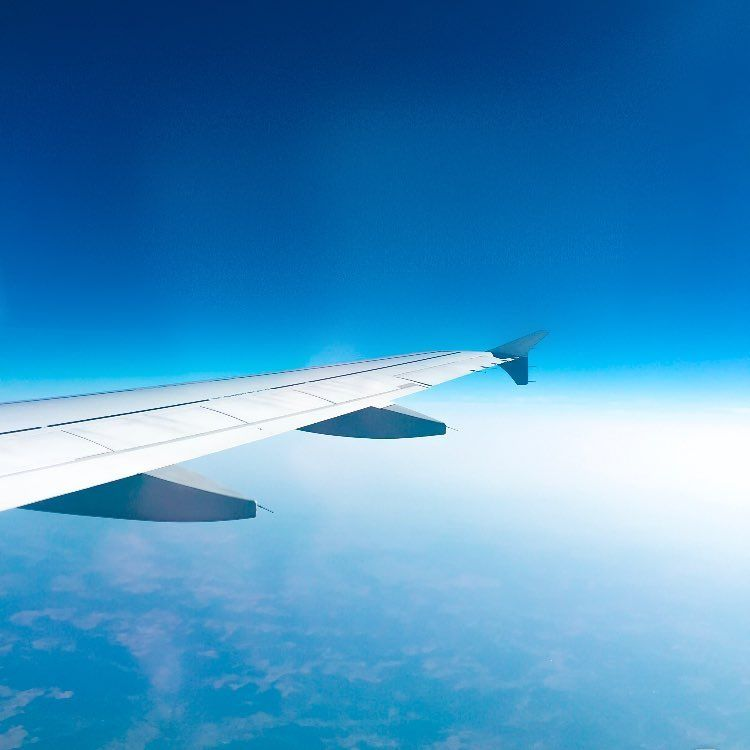 Airplane Views Blue Sky From High Above Views From Aeroplane Window Travel Airplane View Travel Inspiration