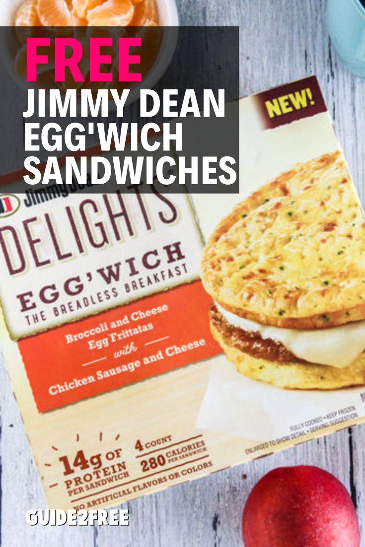 Free jimmy dean delights eggwich sandwiches food drink