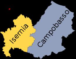 Molise Cartina Italia.Mappa Del Molise Con Le Sue Province Mappa Dell Italia