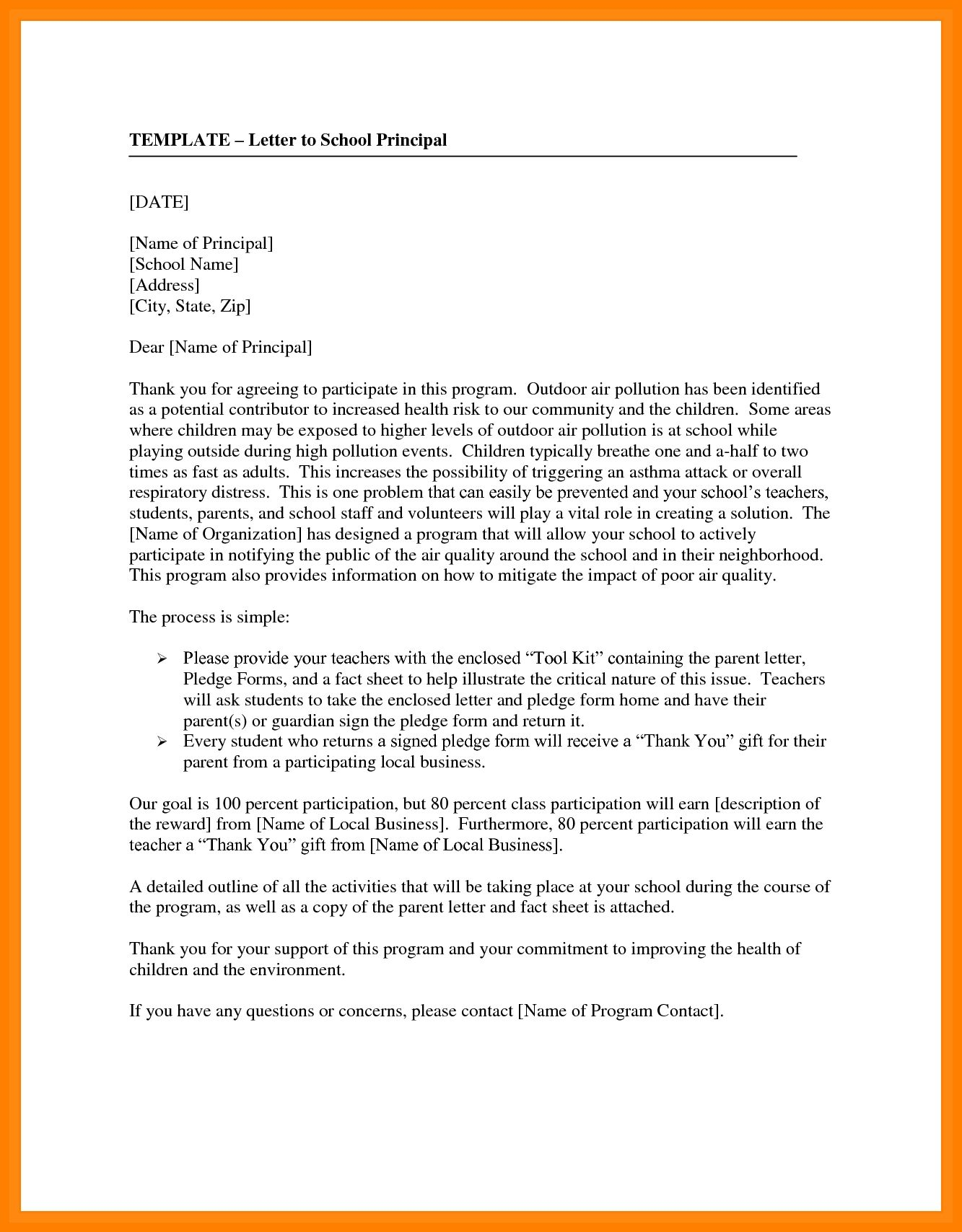 How To Write A Letter To A Principal How To Write Letter By Formal