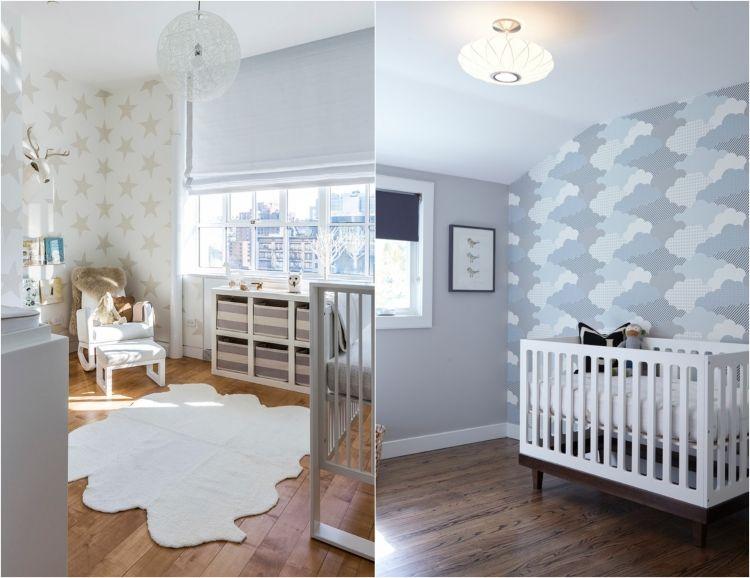 Kinderzimmer neutral ~ Babyzimmer gestalten geschlechtsneutral sterne wolken