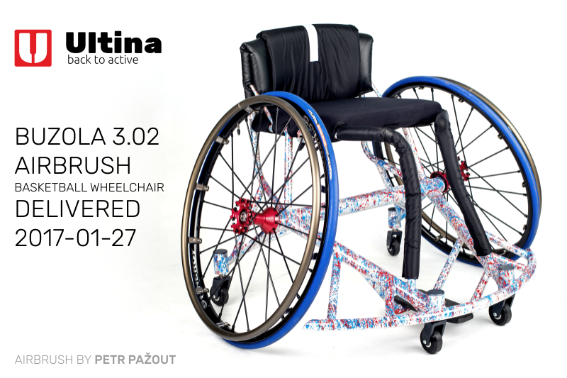 Basketball Wheelchair Ultina Airbrush
