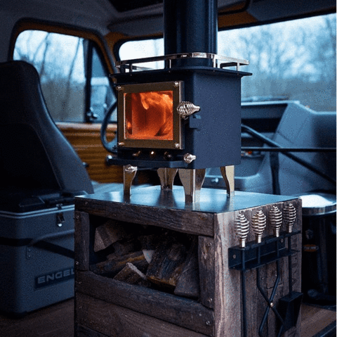 Cub Woodstove In Bus Travel Trailer 20 Inch Clearance All Around