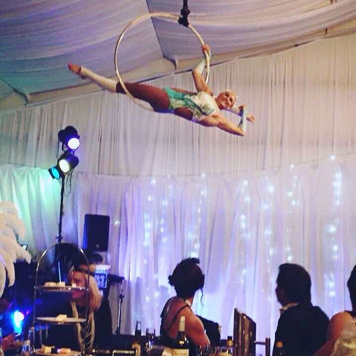 We can have aerialist performances in our marquee