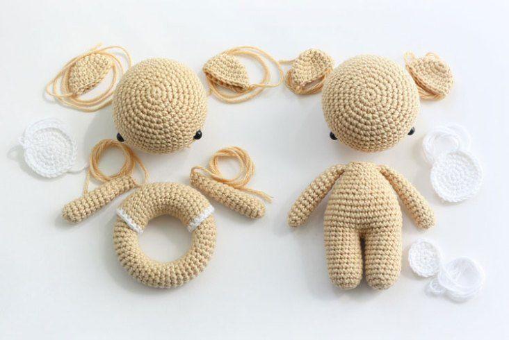 Amigurumi bear and teddy rattle - free crochet patterns | Crochet ...