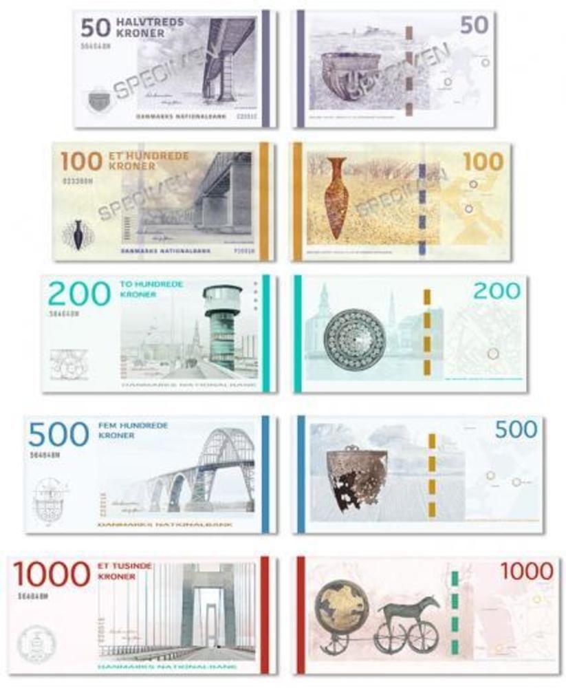 Large Dkk New Banknotes Currency Design Money Design Banknotes Design