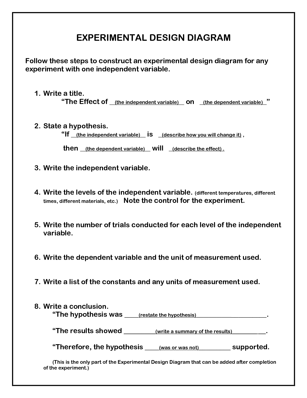 experimental design report Grade 5 science unit: 12 lesson: 02 suggested duration: 10 days science grade 05 unit 12 exemplar lesson 02: experimental design - report this lesson is one approach to teaching the state.