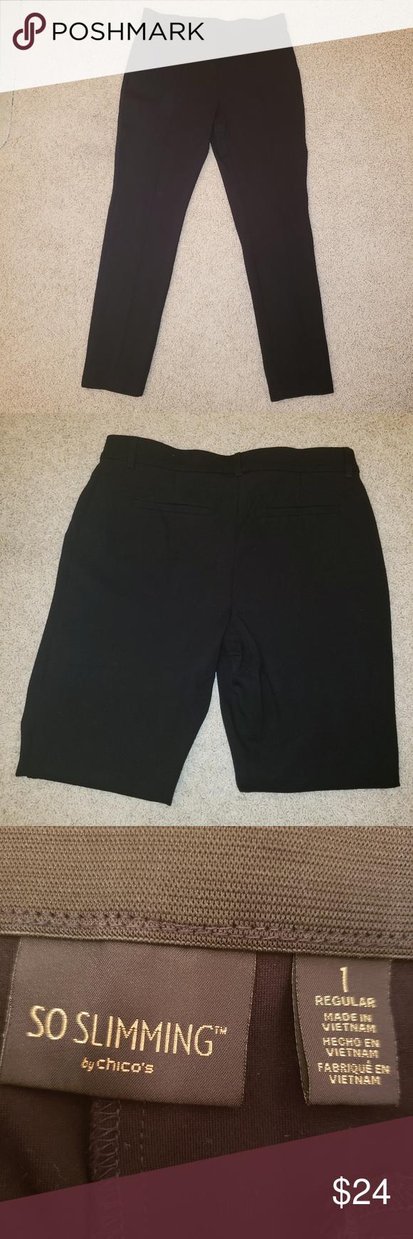 Chico S So Slimming Women S Black Dress Pants Womens Black Dress Pants Black Dress Pants Dress Pants [ 1740 x 580 Pixel ]