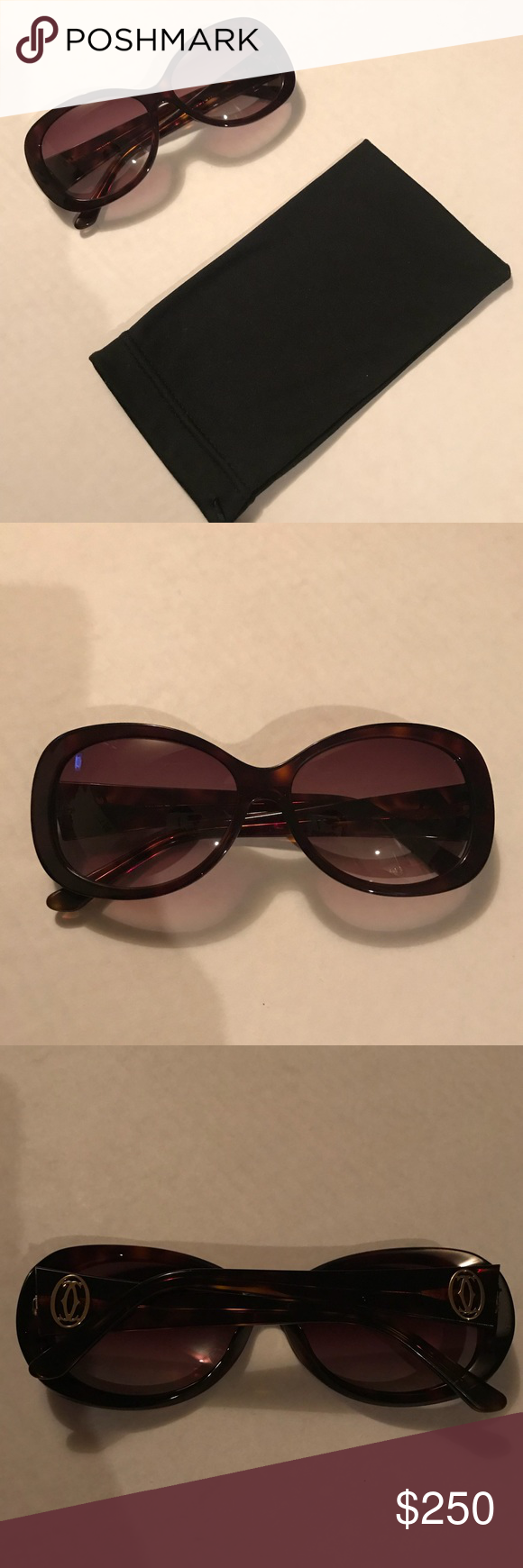 38496ef6fa40 Authentic Cartier Sunglasses Cartier Sunglasses Paris 140 Authentic  Handmade in France Retail for  400 Used Comes in a Dolce   Gabanna Bag  (Since I lost the ...