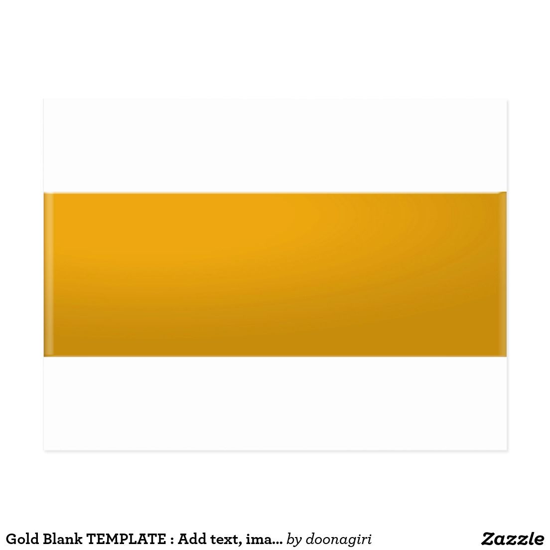 Gold Blank TEMPLATE : Add text, image, fill color Postcard | 101 ...