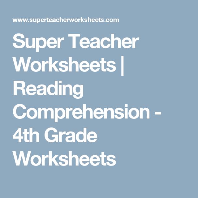 Super Teacher Worksheets | Reading Comprehension - 4th Grade ...