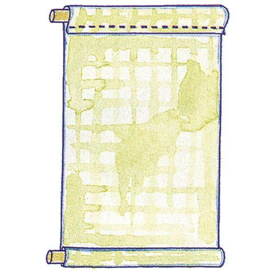 Make A Roll Up Blind Ideal Home Roller Blinds Diy Diy Blinds Fabric Blinds