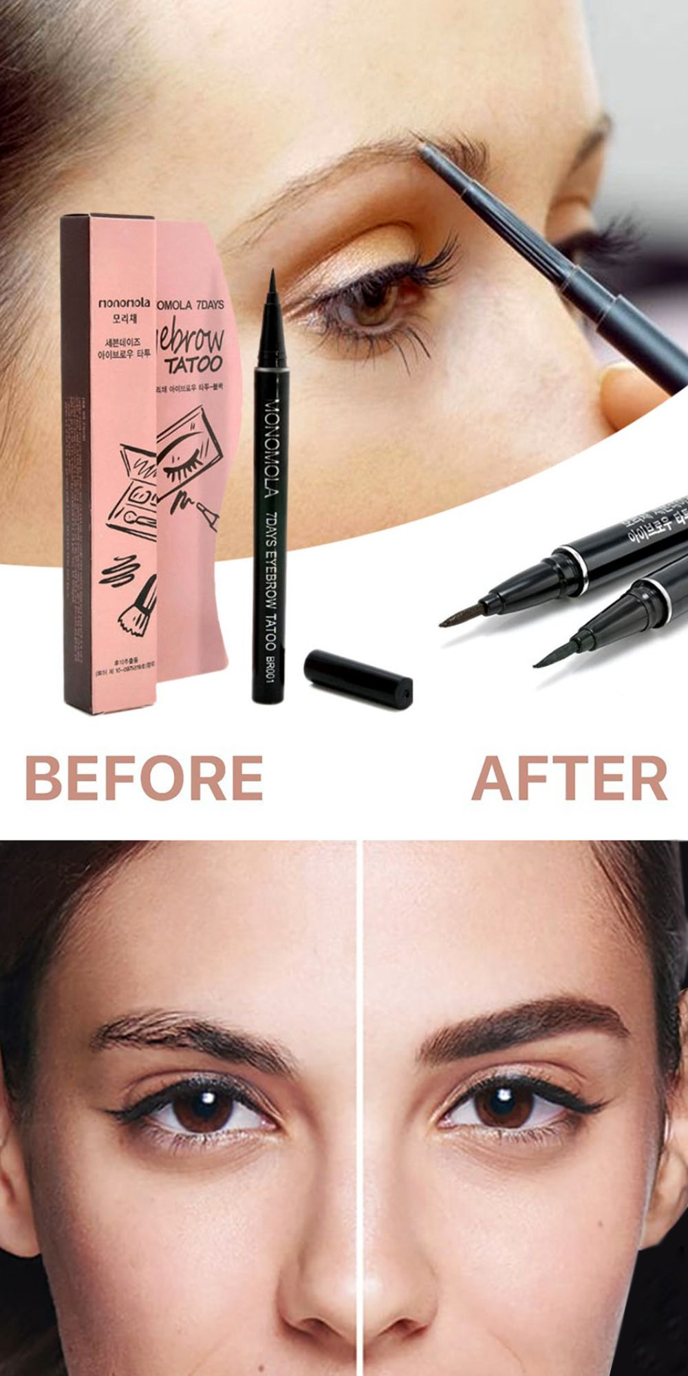 Eyebrow Tattoo Pen Eyebrow tattoo, Eyebrows, Healthy