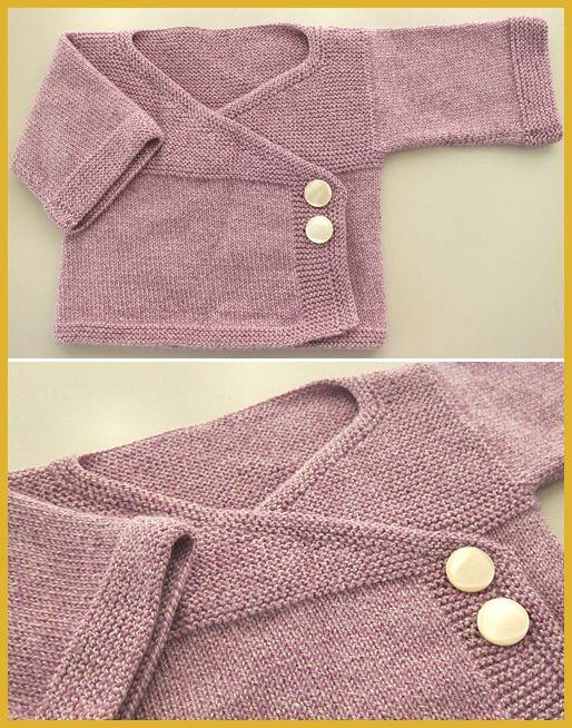 Photo of Baby Kimono – Free Knitting Pattern