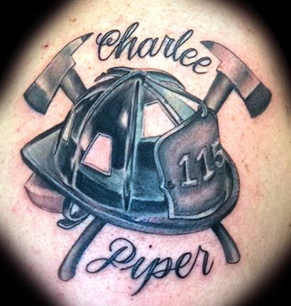 firefighter helmet tattoos images tattoo ideas pinterest rh pinterest com black helmet firefighter tattoos Tribal Firefighter Tattoo