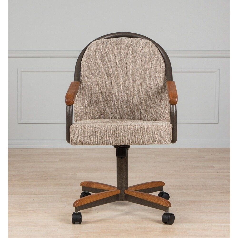 Casual Dining Barell Swivel And Tilt Rolling Dining Chair 38