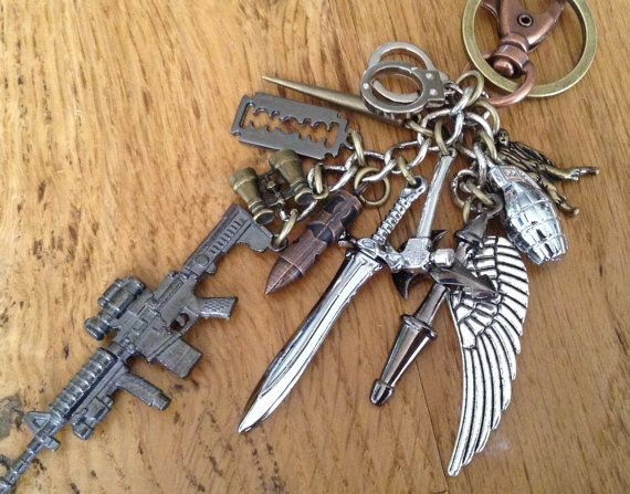 Zombie slayer keychain...or bag decoration...you by NormanJewelry