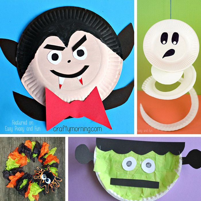 Halloween Paper Plate Crafts For Kids Paper Plate Crafts Crafts