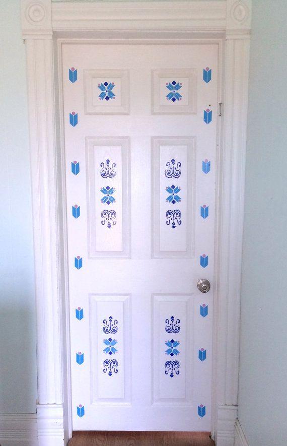 Frozen elsa inspired vinyl door decal little girls room for Room design elsa
