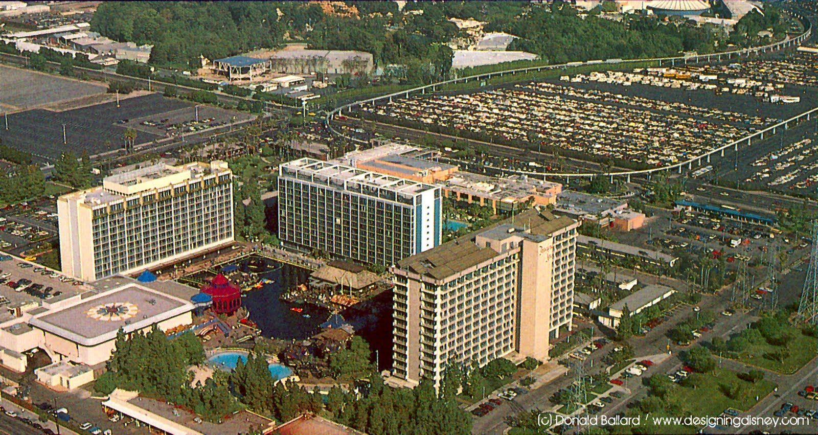 Today Of Original Disneyland Hotel Buildings