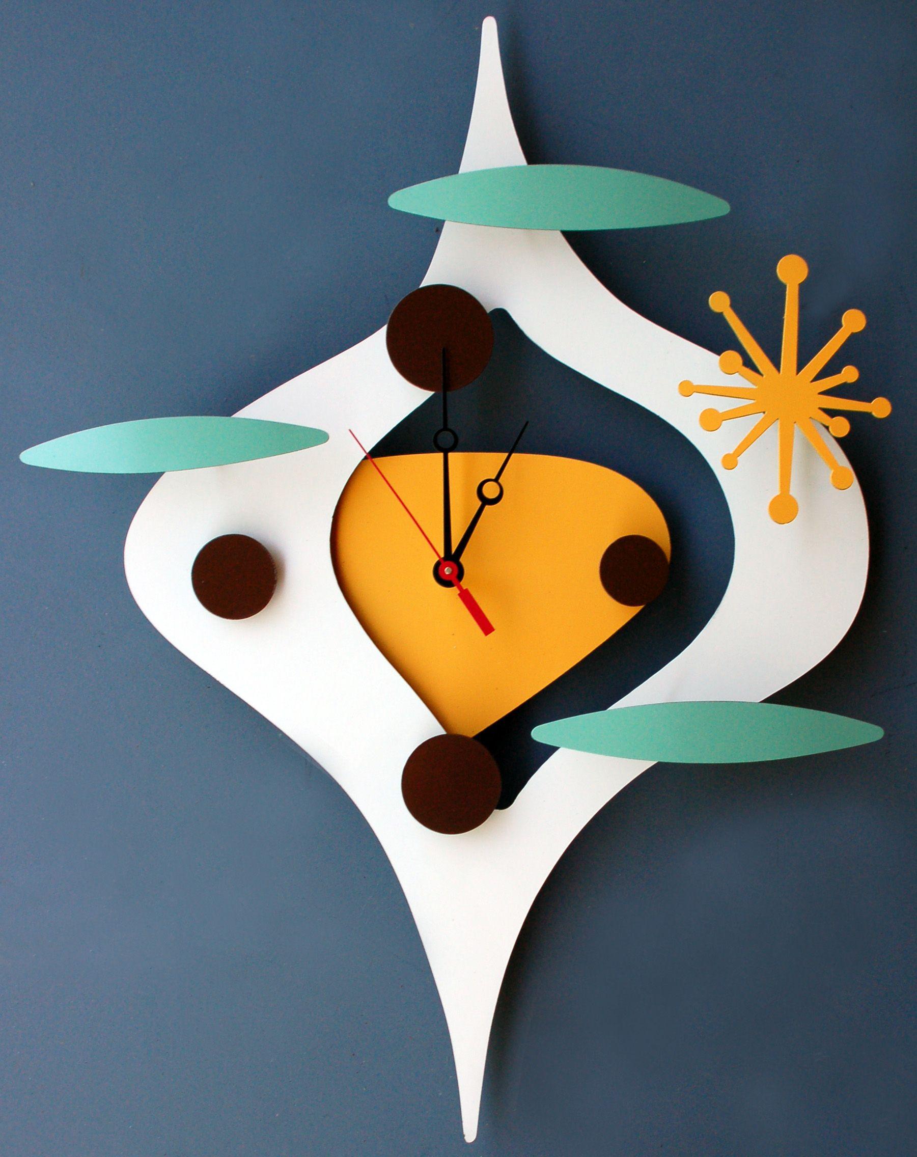 retro space age clock love this shape design m bel einrichtungen pinterest kreativer. Black Bedroom Furniture Sets. Home Design Ideas