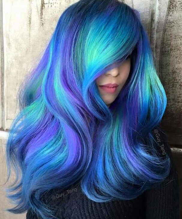 Blue Hair Don T Care Hair Styles Long Hair Styles Mermaid Hair