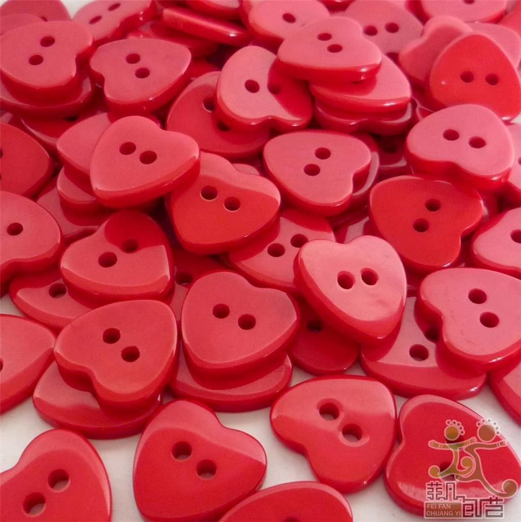 Red Heart Shaped Buttons | Red | Heart, Red, Cherry red