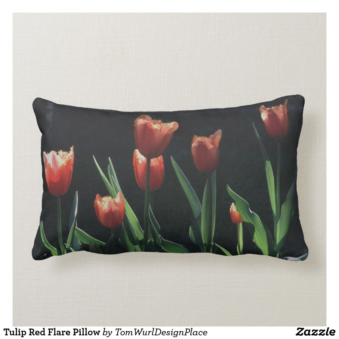 Tulip Red Flare Pillow Red Decorative Pillows Pillows Decorative Throw Pillows