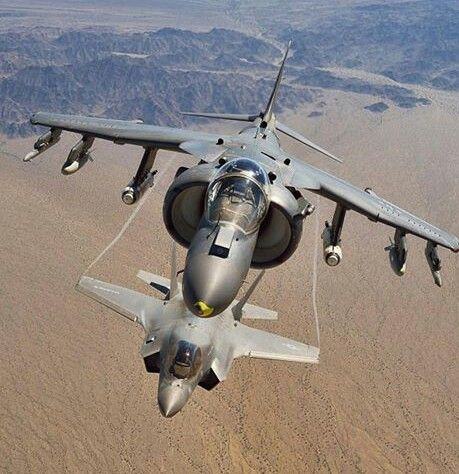 Harrier and F35