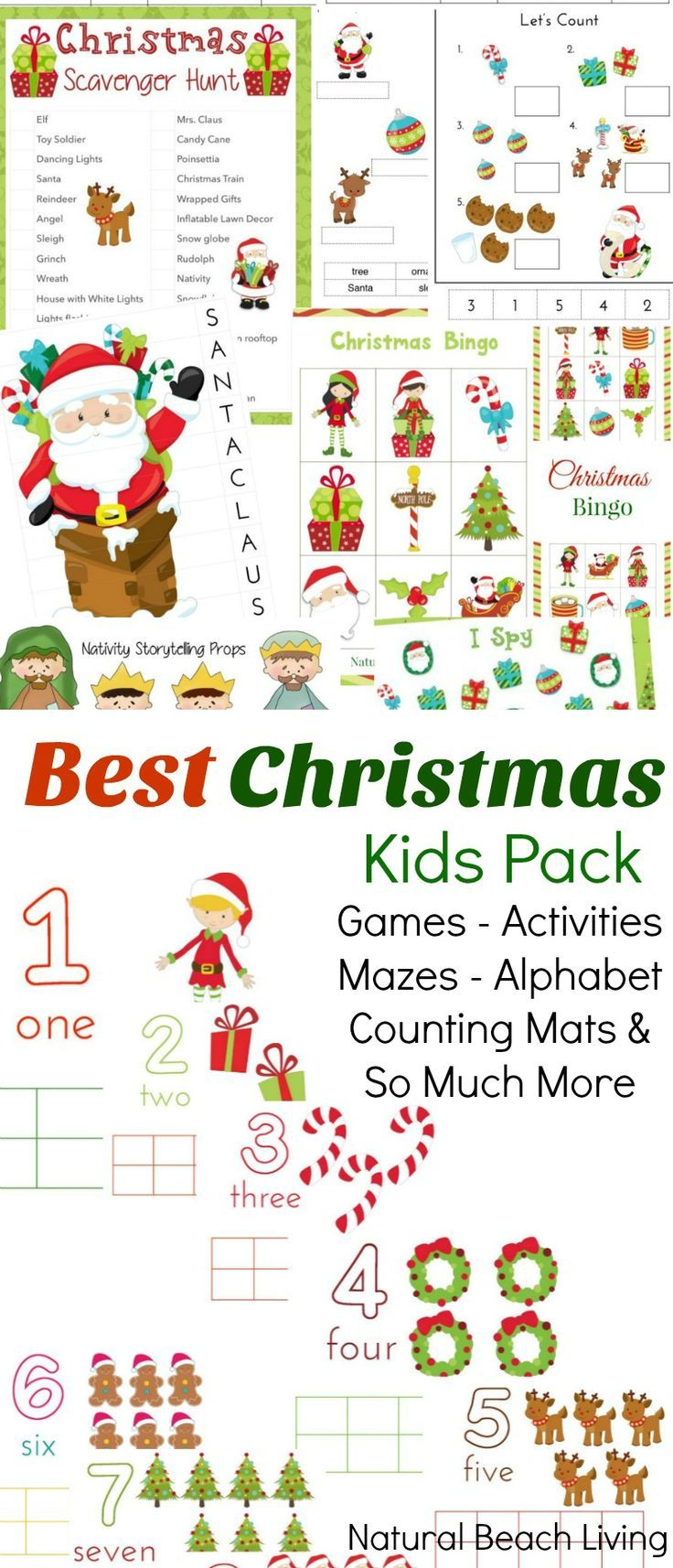 The Best Christmas Activities Pack for Kids | Game bingo, Play dough ...