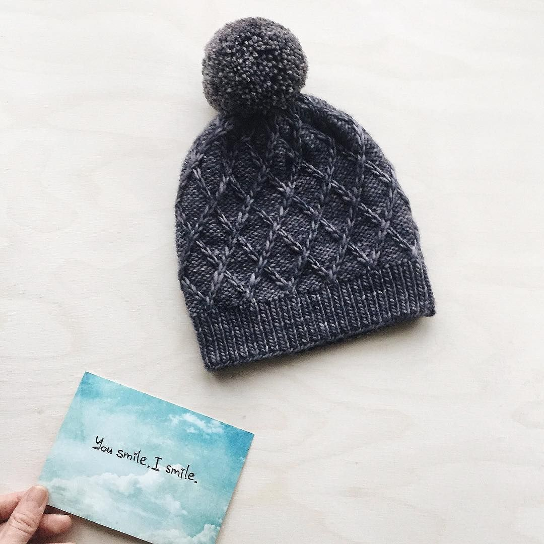 Hat / Beanie by @viajeuvie | malabrigo Mecha | Flat Lay - malabrigo ...