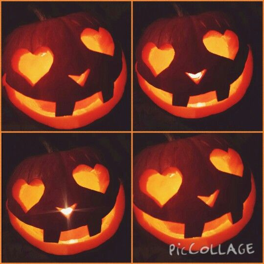 My cute Pumpkin I carved. #toocute #hearts #eyelashes #bigsmile  #easy #thebest #halloween