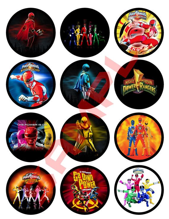Power Rangers Cupcake Toppers Or Stickers by TheLittleBearSaloon   2 90. Power Rangers Cupcake Toppers Or Stickers by TheLittleBearSaloon